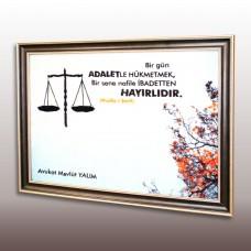 BASKILI ÇERÇEVELİ DUVAR HALISI
